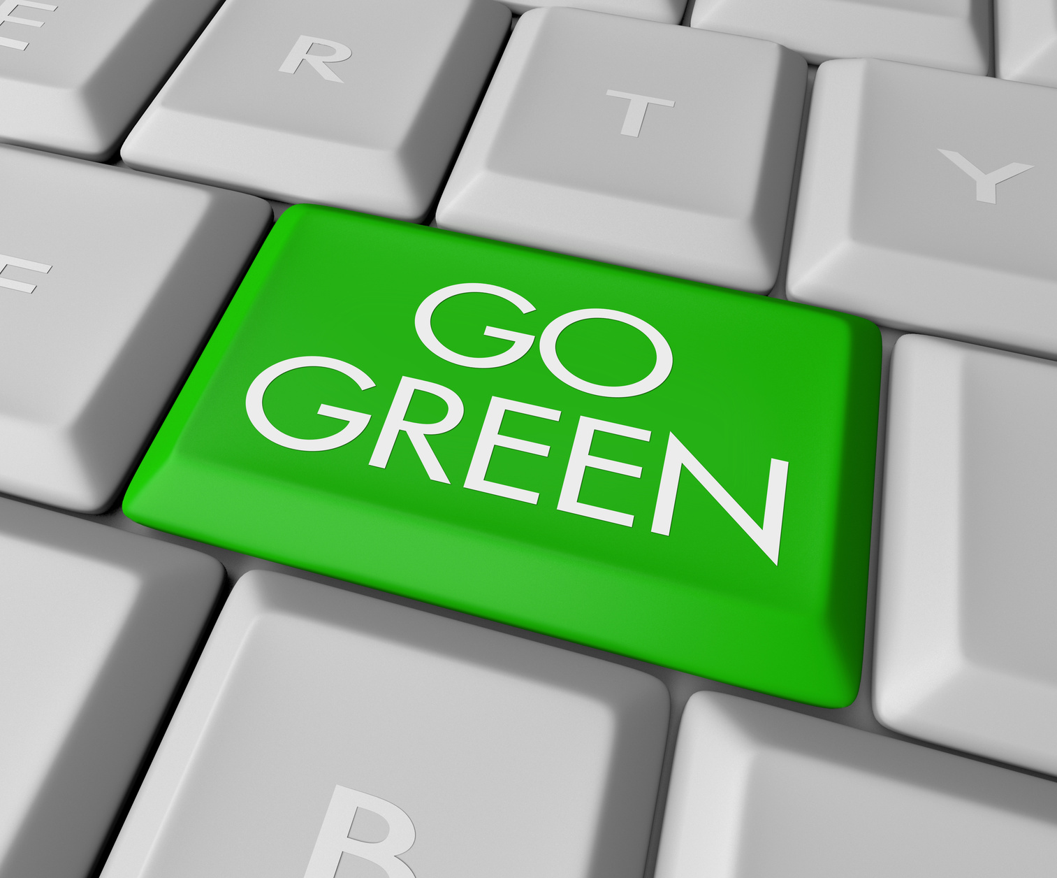 Go Green Computer Key