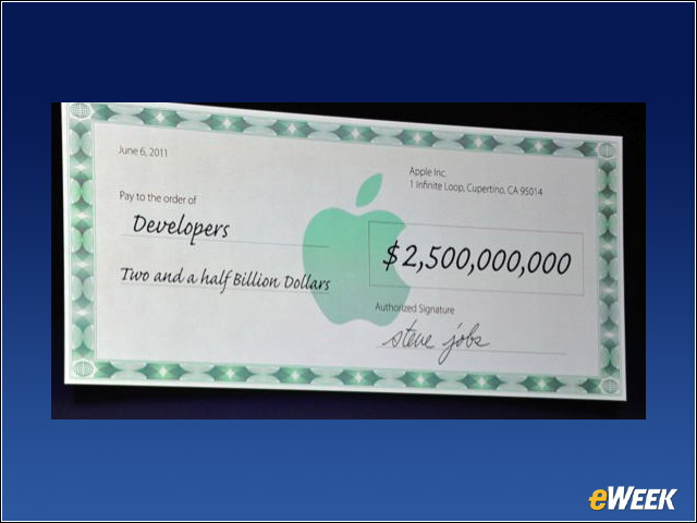 Apple paid out $2.5 billion dollars to developers so far