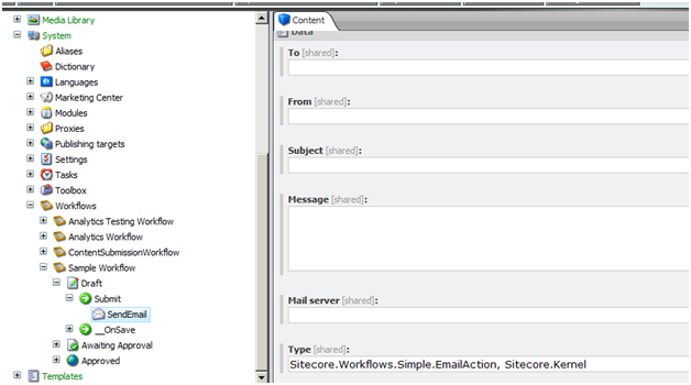 Sitecore Workflow Email