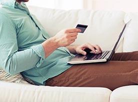 Man shopping online