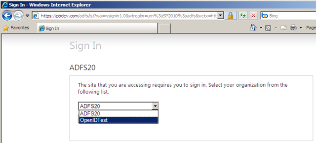 Adding an OpenID Claims Provider for AD FS 2 0 to Extend Access to