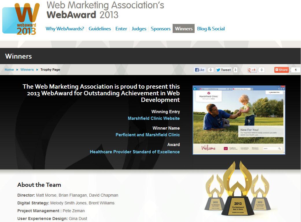 Marshfield clinic webaward site