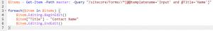Sitecore Powershell Extensions Editing